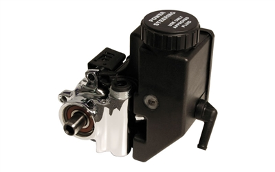 Power Steering Pump - Polished Aluminum with Integral Reservoir