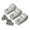 "Hose Mounting Clamps - Aluminum -1/4"" (set of 6)"