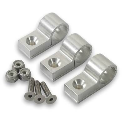"Hose Mounting Clamps - Aluminum -7/16"" (set of 4)"