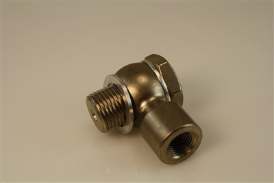 "9/16""-20 Banjo and Bolt to 1/8 NPT Female - Steel"