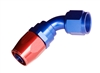 RHP -06 60 deg female aluminum hose end - red&blue