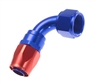 RHP -08 90 deg female aluminum hose end - red&blue