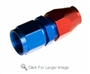 "-06 to 3/8"" hard line female aluminum hose end - red&blue"