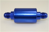 -06 inlet -06 outlet AN high flow fuel filter - blue