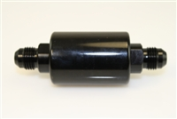 -08 inlet -08 outlet AN high flow fuel filter - black