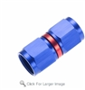 -10 female to female AN/JIC swivel coupling - red&blue