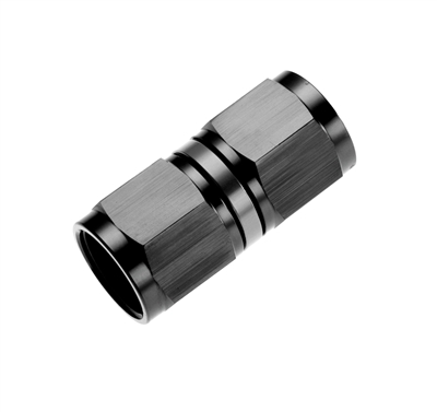 -10 female to female AN/JIC swivel coupling - black