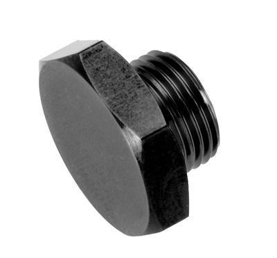 -08 AN/JIC straight thread (o-ring) port plug - black