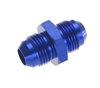 "-06 male to male 9/16"" x 18 AN/JIC flare union - blue"