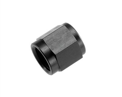 "-04 AN/JIC aluminum tube nut 7/16"" x 20 - black"