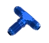 -10 male AN/JIC bulkhead tee (bulkhead on side) - blue