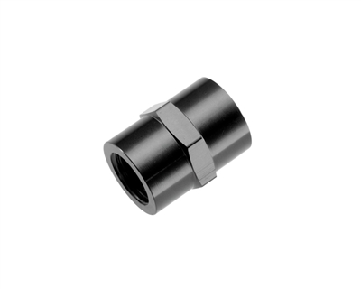 "-02 (1/8"") NPT female pipe coupler - black"