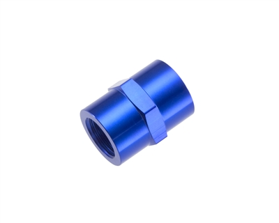 "-08 (1/2"") NPT female pipe coupler - blue"