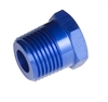 "-08 (1/2"") NPT male to -06 (3/8"") NPT female reducer - blue"