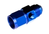 "-04 male to -04 female AN/JIC with 1/8"" NPT in hex - blue"