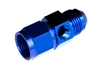 "-08 male to -08 female AN/JIC with 1/8"" NPT in hex - blue"