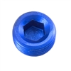 "-08 (1/2"") NPT hex head pipe plug - blue"