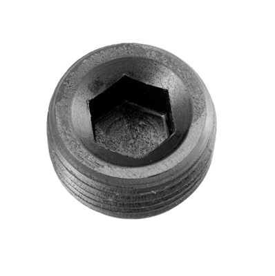 "-08 (1/2"") NPT hex head pipe plug - black"