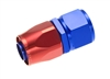 RHP -04 straight female aluminum hose end - red&blue