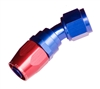 RHP -08 30 deg female aluminum hose end - red&blue