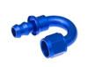 RHP - 08 180* Deg AN/JIC Hose End Push Lock - Blue
