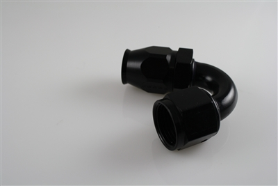 JDA -6 150 Degree PTFE Hose End - Aluminum (black)
