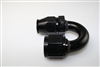 TFX -6 180 Degree PTFE Hose End - Aluminum (black)