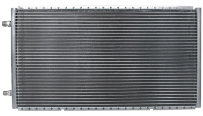 "Horizontal SuperFlow Condenser 14"" tall x 25.5"" wide x .83"" thick -Unpainted"