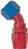 -12 45 Double Swivel Hose End to -16 Nut - Aluminum
