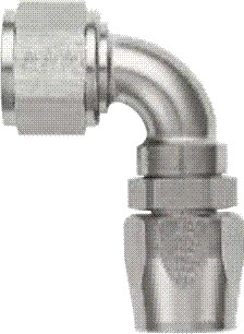 -06 90 Deg Double Swivel Hose End - Super Nickel Plated