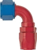 -08 90 Deg Double Swivel Hose End - Aluminum