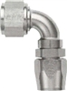 -12 90 Deg Double Swivel Hose End - Super Nickel Plated