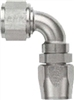 -16 90 Double Swivel Hose End to -12 Nut - Aluminum - Super Nickel Plated