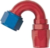-08 150 Deg Double Swivel Hose End - Aluminum