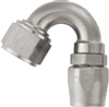 -08 150 Deg Double Swivel Hose End - Super Nickel Plated