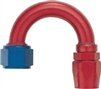 -08 180 Deg Double Swivel Hose End - Aluminum