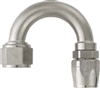 -08 180 Deg Double Swivel Hose End - Super Nickel Plated