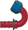 -08 150* Deg Push-On Hose End - Aluminum