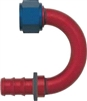 -08 180* Deg Push-On Hose End - Aluminum - Anodized