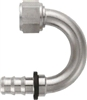 -12 180* Deg Push-On Hose End - Aluminum - Super Nickel Plated