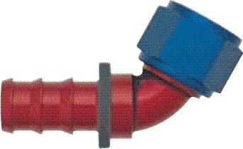 -06 60* Deg Push-On Hose End - Aluminum