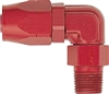 "-08 90* Deg. Double Swivel Hose End to 1/2"" Male NPT - Aluminum"
