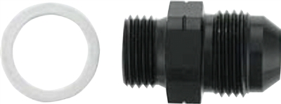 M10 X 1.5 to -6 AN Adapter w/ washer - Aluminum