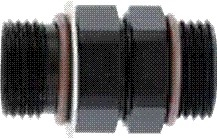 Coupler, Male -10  ORB to Male -8 ORB - Aluminum - Black Anodized