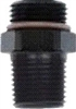 "Coupler, Male -10 ORB to Male 3/8"" NPT - Aluminum - Black Anodized"