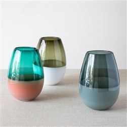 Banded Barrel Vases
