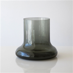 Toque Glass Vase Smoke