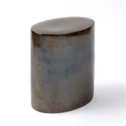 Oval Stool Gunmetal
