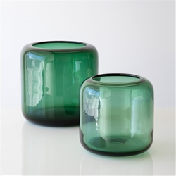 Mazurka Vase Smokey Green