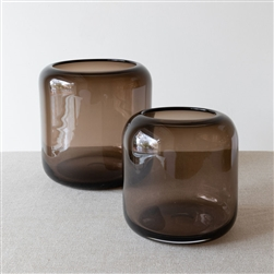 Mazurka Vase Smokey Brown